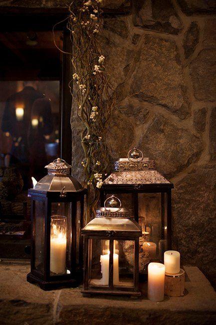 Scottish Wedding | Lanterns with Candles                                                                                                                                                      More