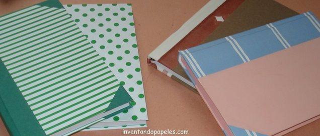 libretas forradas en papel entretenido