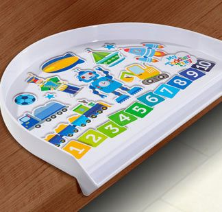 Toddler Trays contain to food mess and drink spills for stress free mealtimes!