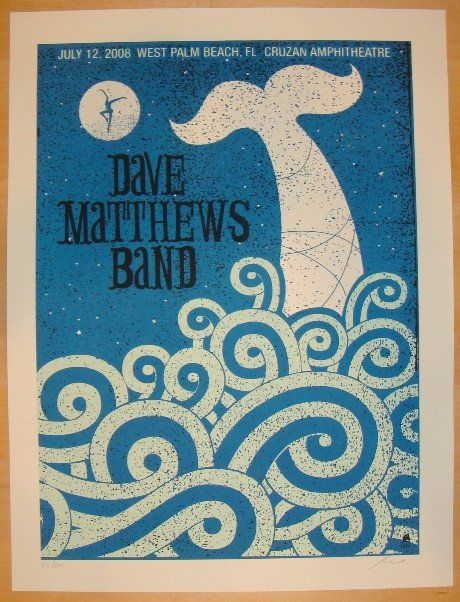 2008 dave matthews band west palm ii concert poster by methane studios west palm beach and. Black Bedroom Furniture Sets. Home Design Ideas