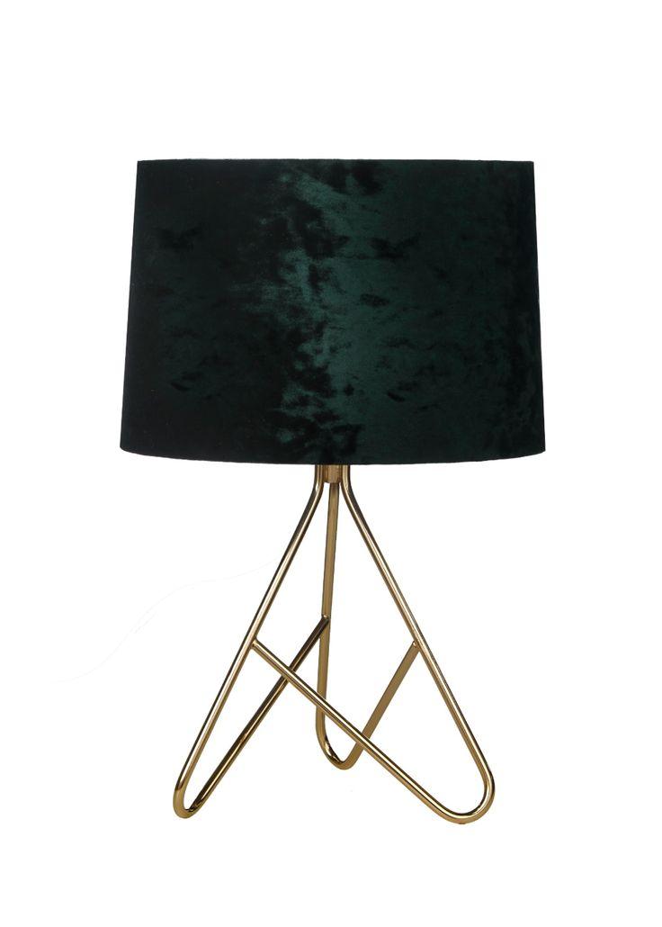 Ziggy Velvet Table Lamp W40cm X H27cm Gold Table Lamp