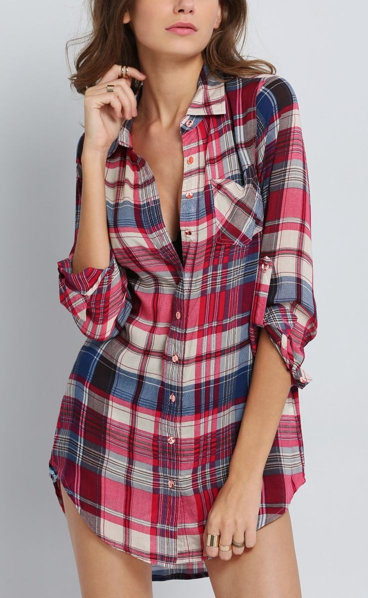 Cute plaid dress, would be much better with leggings or tights.