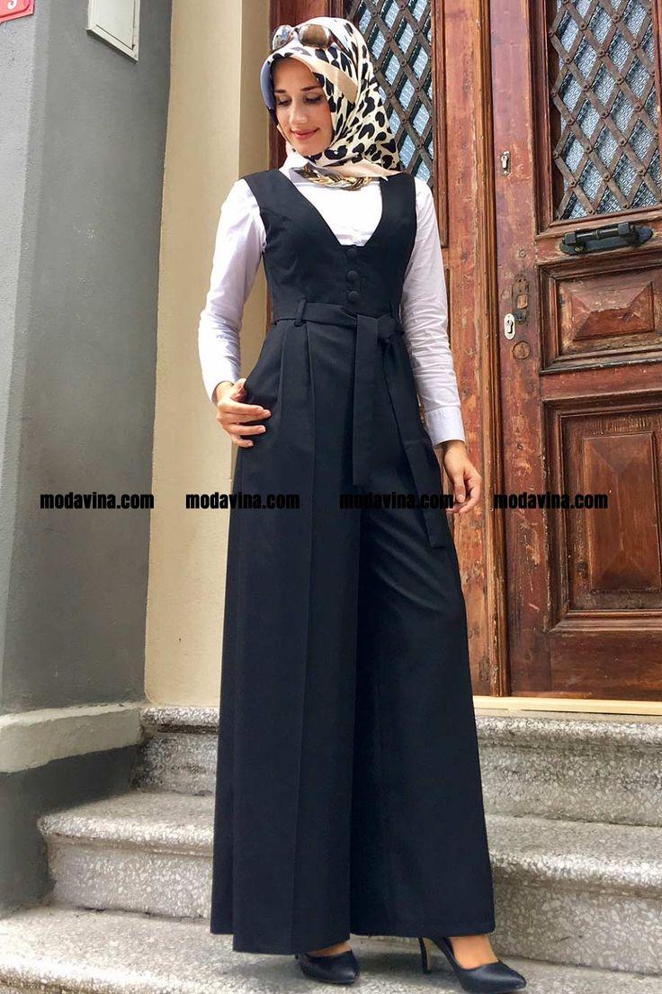 Yeni sezon Tulum Elbise Siyah Fahima indirimli fiyat hediye ücretsiz yurt içi ve dışı kargo avantajıyla modavina.com'da satışta Türkiye'nin En Büyük Tesettür Alışveriş Sitesi | Modavina