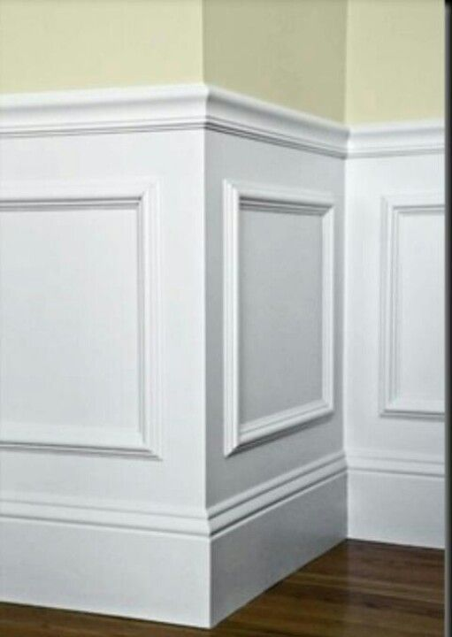 easy wainscotting idea buy frames from michaels glue to wall and paint over entire