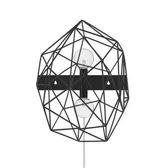 Diamond vegglampe - sort - Globen Lighting
