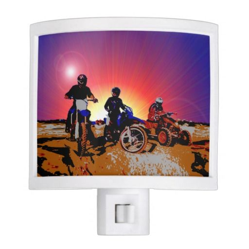 http://www.zazzle.com/gone_riding_quad_dirt_bikes_motocross_night_light-256560413806965638?rf=238523064604734277 Gone Riding Quad Dirt Bikes Motocross Night Light - This night light features three friends which have gone riding on their dirt bikes and quad bikes.