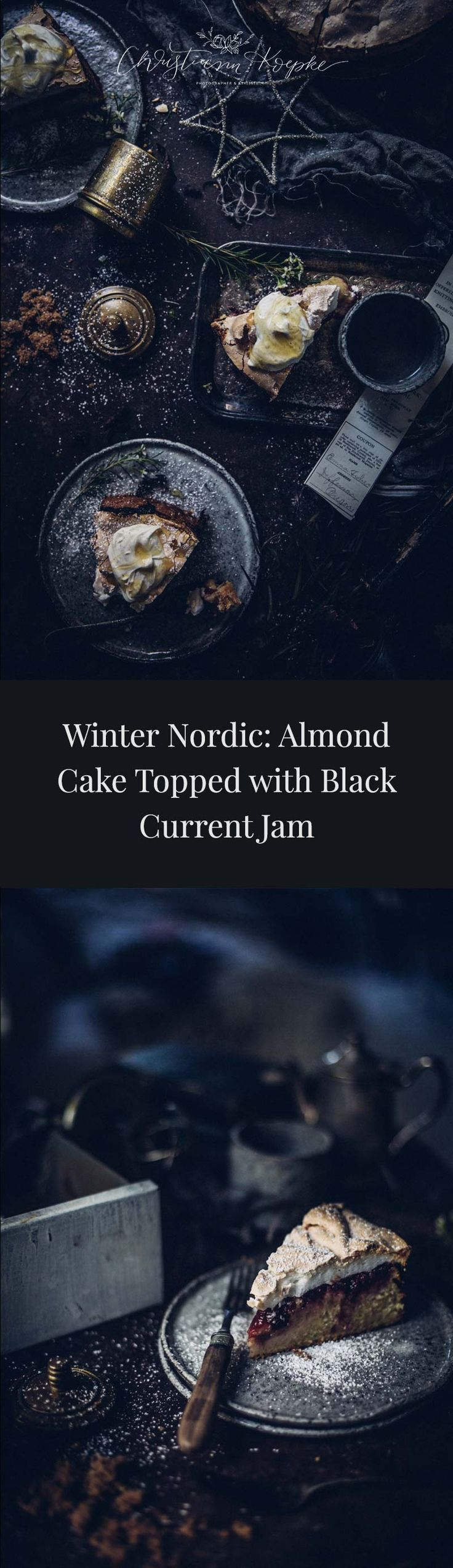 Winter Nordic: Almond Cake Topped with Black Current Jam | Christiann Koepke