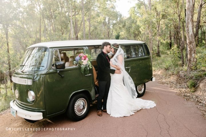 A wedding I photographed at Darlington Estate Winery. The groom hired this Kombi for his transportation with his groomsmen.