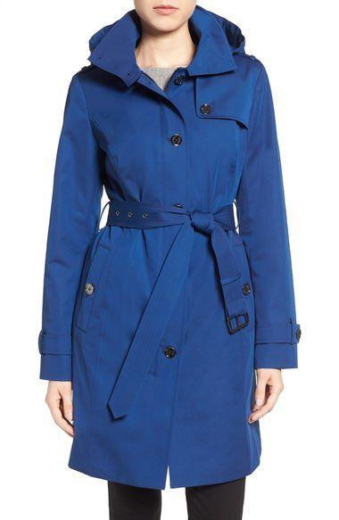 MICHAEL Michael Kors Hooded Trench Coat (Regular & Petite) available at #Nordstrom