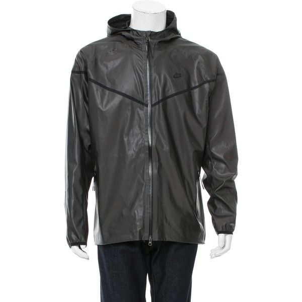 Pre-owned Nike Reflective Windbreaker Jacket ($95) ❤ liked on Polyvore featuring men's fashion, men's clothing, men's outerwear, men's jackets, black, mens zipper jacket, mens zip jacket, mens jackets, nike mens jackets and mens windbreaker jacket