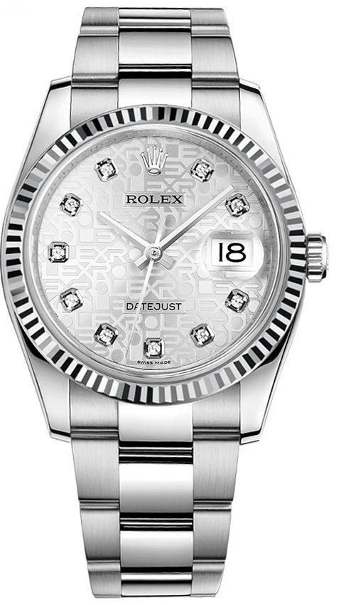 5c64bd99ec7 Rolex Datejust 36 Silver Diamond Jubilee Oyster Bracelet Watch 116234 in  2019 | Rolex - Men's Watches | Rolex watches, Rolex datejust, Rolex