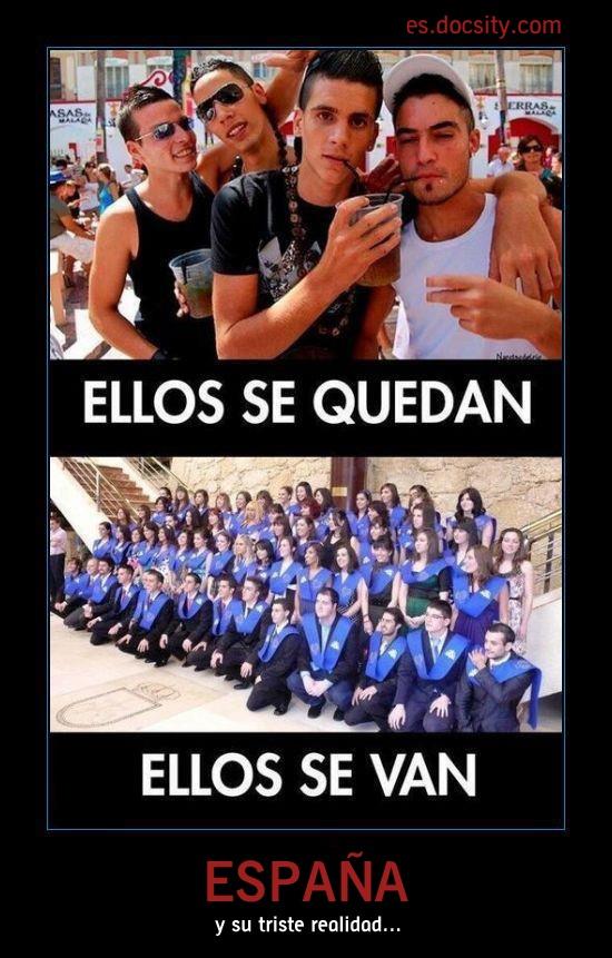 La triste realidad de España... #fuga de #cerebros.