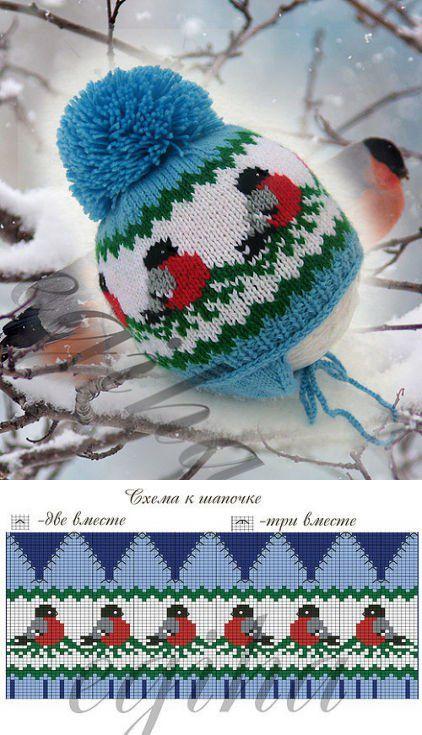 Узоры для зимних детских шапочек