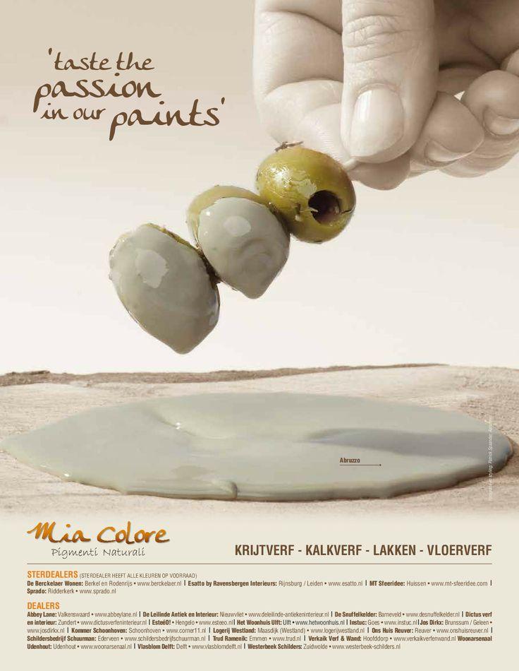 De tweede advertentie van Mia Colore campagne  'taste the passion in our paints'!