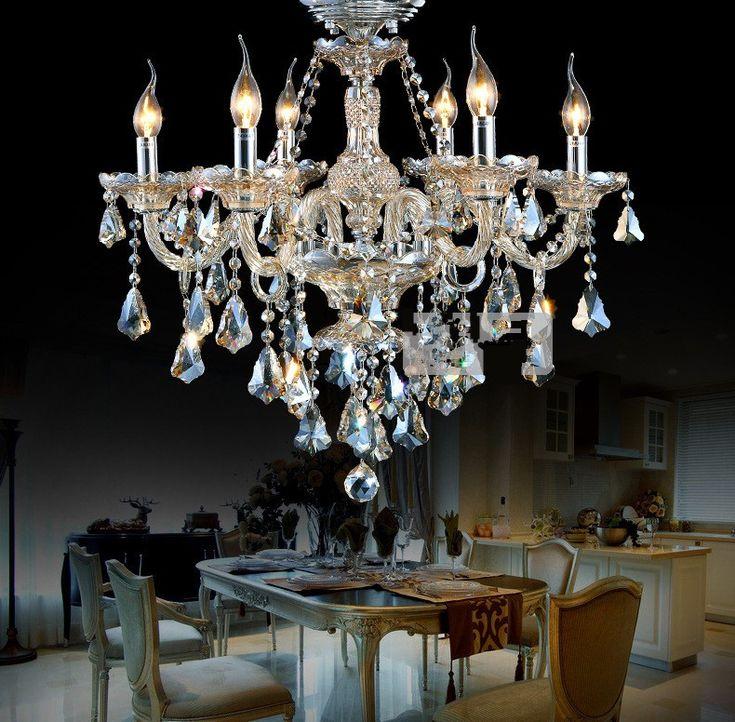 2016 НОВЫЙ 6 лампа Современный кристалл лампы Frete бесплатно Руки Черные темно шишки Хрустальные Люстры Свет Cristal Блеск серый черный цвет купить на AliExpress