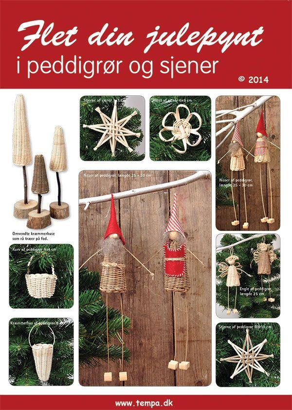 Слияние ваши рождественские украшения тростника (ротанг)