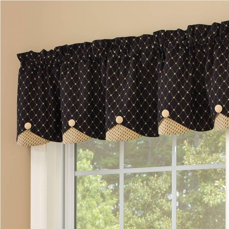 Carrington Lined Scalloped Valance Valance Curtains And