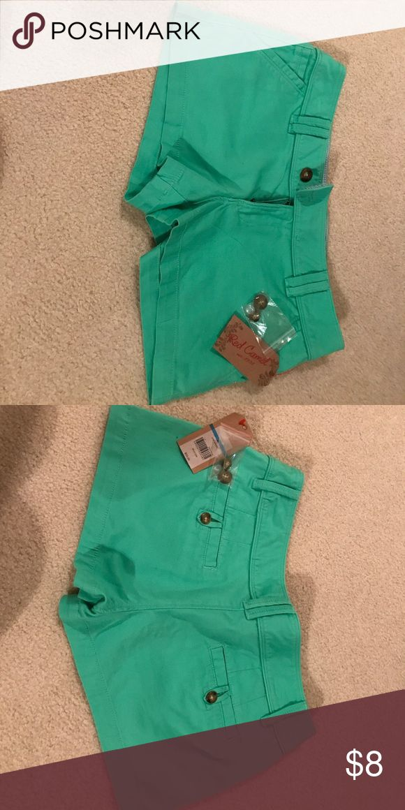 Red Camel shorts Mint green shorts! New with tags! Red Camel Shorts