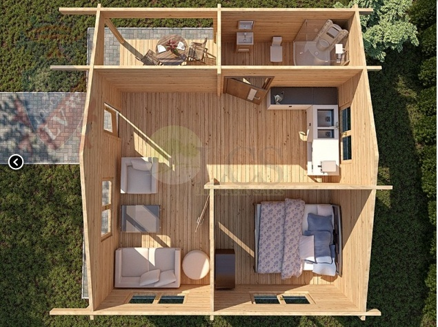 Easy build cabin layout house for Cottages plans to build