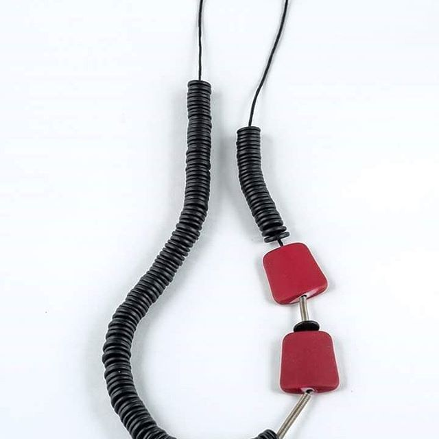 Playful yet classic!! #datu_workshop #jewellery #jewelry #handmade #fashion #classy #red #necklace
