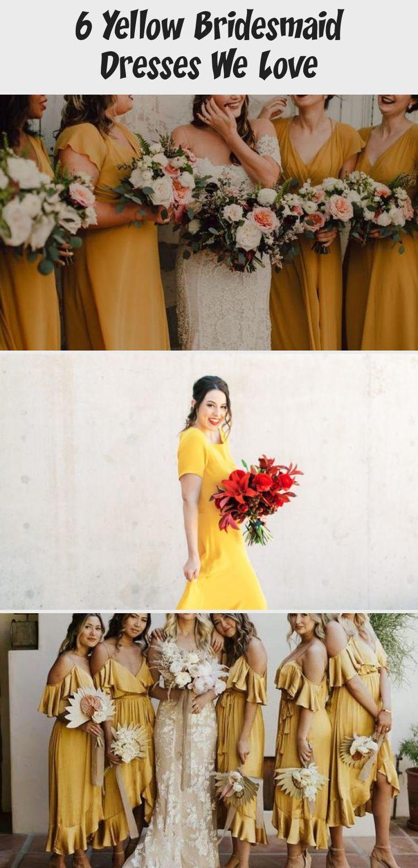 6 Yellow Bridesmaid Dresses We Love - Tremaine Ranch #BridesmaidDressesStyles #BridesmaidDressesCoral #ElegantBridesmaidDresses #TaupeBridesmaidDresses #YellowBridesmaidDresses