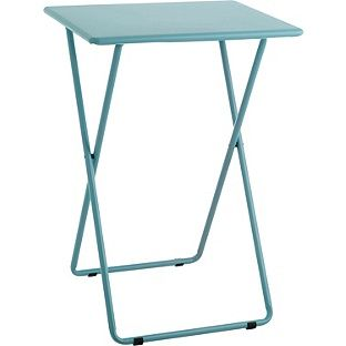 Buy Habitat Airo Metal Folding Table - Sea Blue at Argos.co.uk - Your Online Shop for Occasional and coffee tables. $15