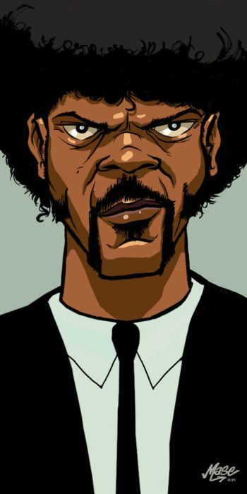 Pulp Fiction: Quentin Tarantino, Samuel Jackson, Bad Motherfuck, Bad Mothers, Mothers Fucker, Fans Art, Jules Winnfield, Pulp Fiction, Sam Jackson