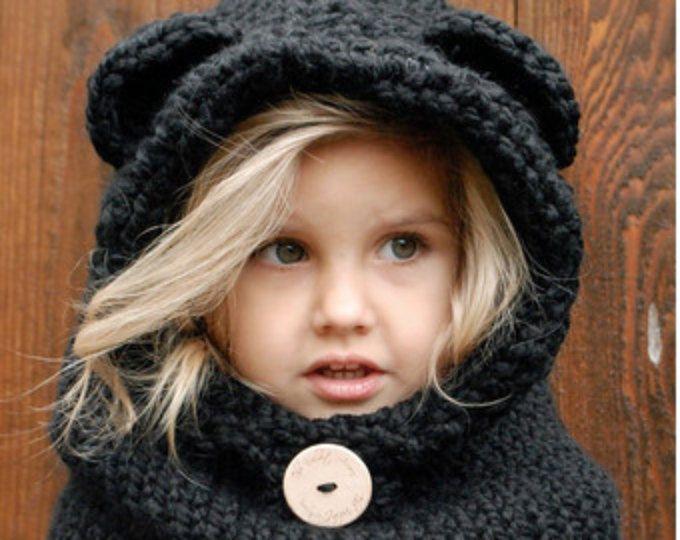 KNITTING PATTERN - Burton Bear Cowl (6/9 month - 12/18 month - Toddler - Child - Adult sizes)