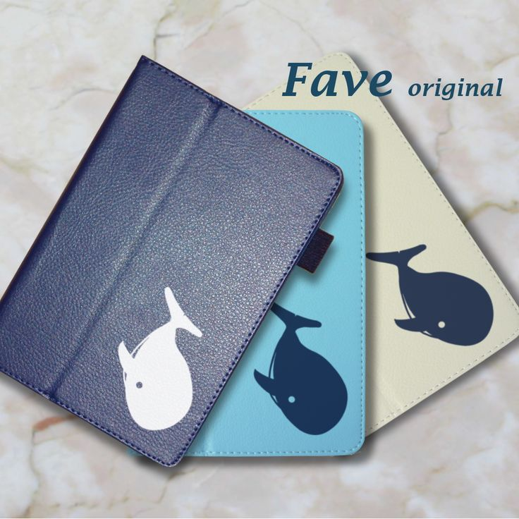 【送料無料】【名入れ対応】今、人気のオシャレな手帳型レザータイプ。 。iPadケース (クジラ) 手帳型 オリジナル 送料無料 鯨 くじら  水族館シリーズ 動物 アニマル ホワイト ブラック ネイビー iPad Air Air2 mini mini2 mini3 mini4