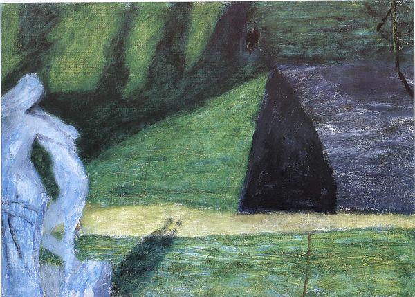 """Piotr Potworowski (1898 – 1962). """"Fontainebleau"""", 1954/55, olej, dykta, 44x62, własność Muzeum Lubelskie w Lublinie"""
