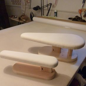 European Sized Teardrop Pressing Board And Sleeve Board by Charles Thomas