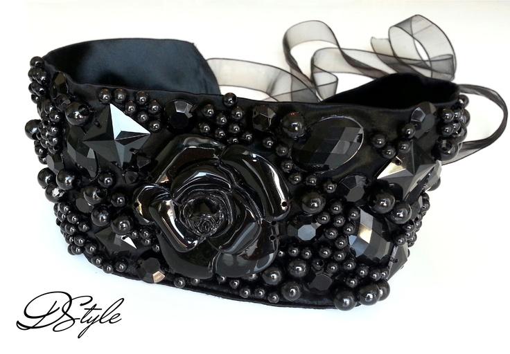 black belt with beads