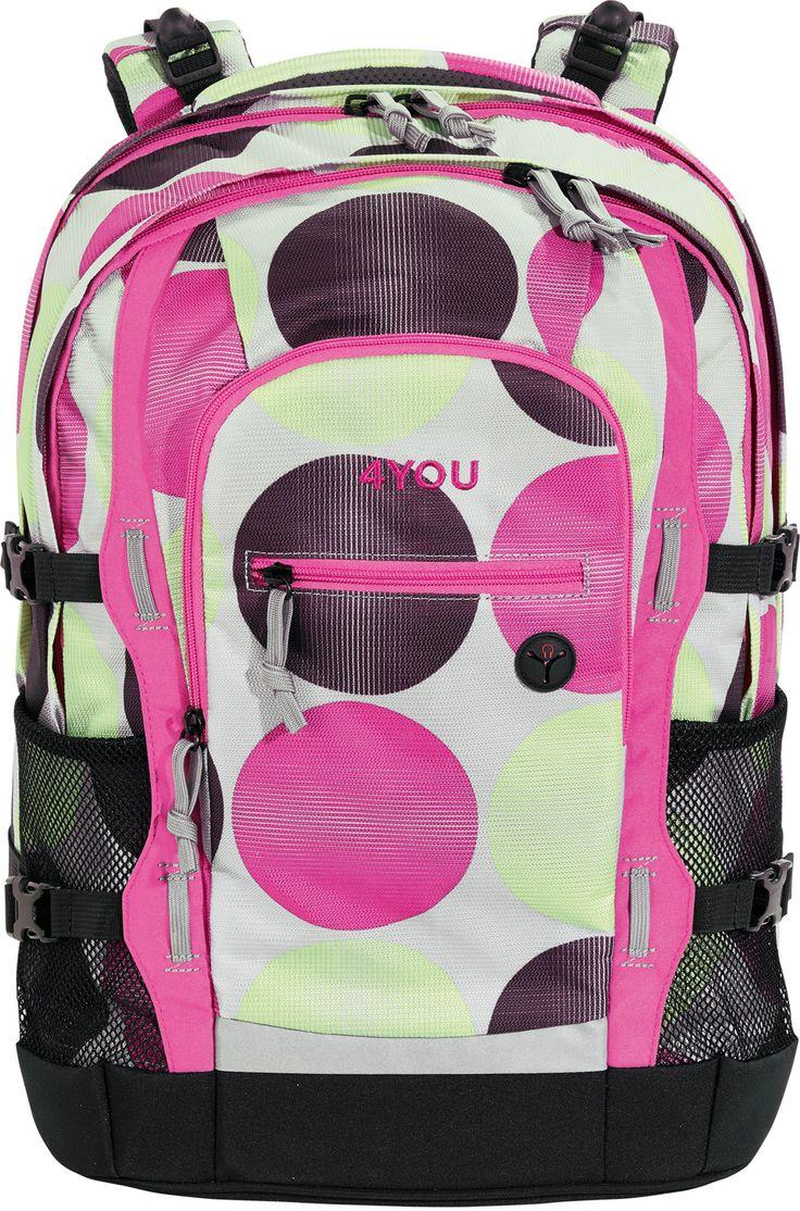 Der  4You   Schulrucksack  mit mitwachsendem Tragesystem ab Klasse 4! Der neue  Jump  - mehr als nur ein Schulrucksack. Das 4-fach höhenverstellbare Ergonomic plus Tragegurtsystem, individuell einstellbar in der Höhe, passt sich dem...