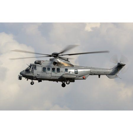 A Eurocopter AS532 Cougar of the Royal Malaysian Air Force Canvas Art - Remo GuidiStocktrek Images (35 x 23)