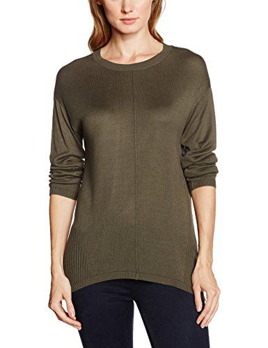 e419b94c999f b.young Oasisi o Neck Pull Femme Vert (Khaki Green) 38 (Taille ...