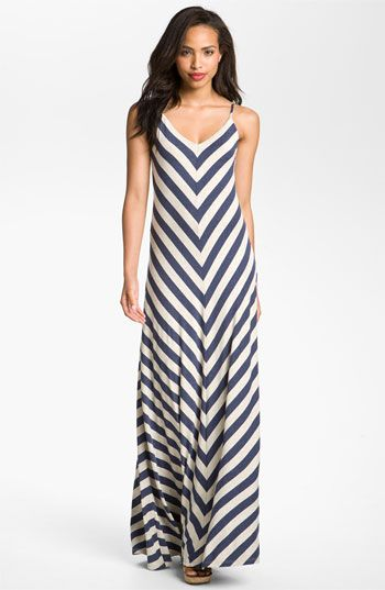 Max & Mia Chevron Stripe Maxi Dress | Nordstrom
