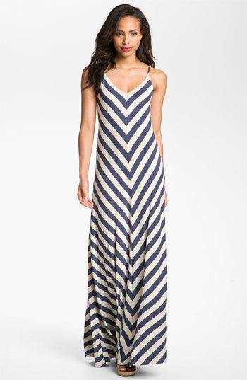 Max & Mia Chevron Stripe Maxi Dress   Nordstrom