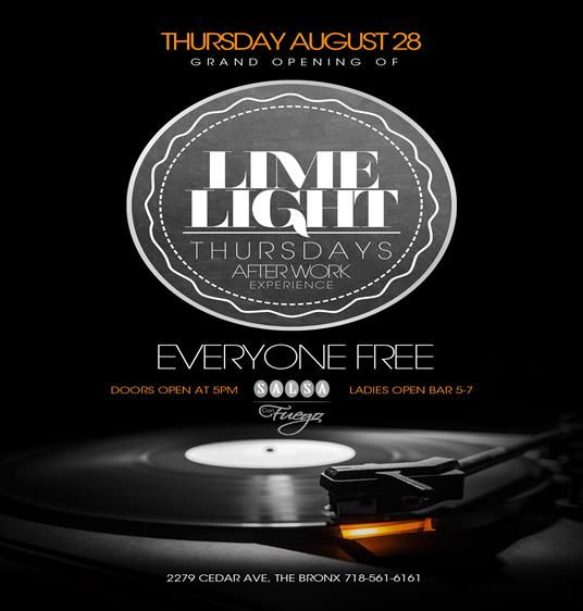 Grand Opening Of Lime Light Thursday's After Work Experience @ Salsa Con Fuego Thursday August 28, 2014 « Bomb Parties – Club Events and Par...