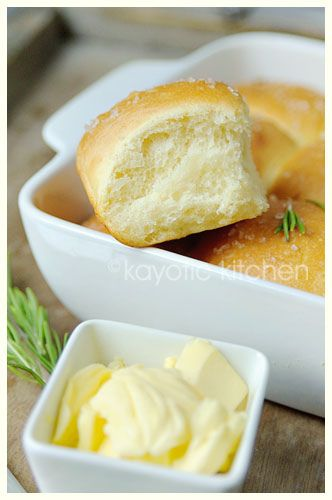 Rosemary and Garlic Butter Rolls | bread for the soul | Pinterest