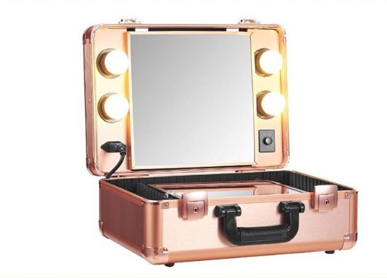 LadyMoss.com | Portable Lighted Makeup Case - Rose Gold