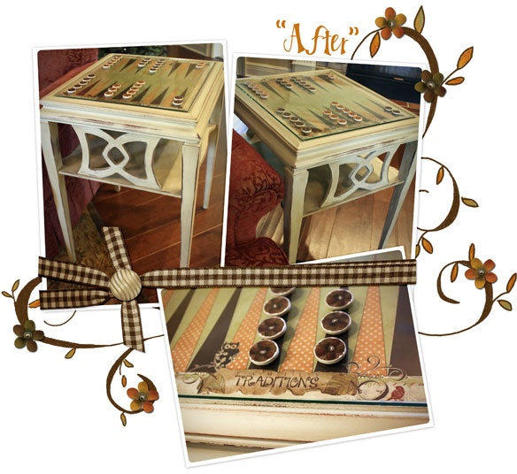 Backgammon Table From Antique Side Table! We Are SOOOOO Doing This TA!