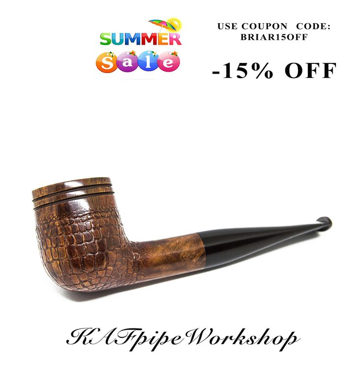 "Briar smoking pipe ""Iguana""/Tobacco pipe/Handcrafted wooden pipe rusticated &carved/Briar wood pipe/Cachimbo/Pipa de fumar/Tabakpfeife by KAFpipeWorkshop on Etsy"