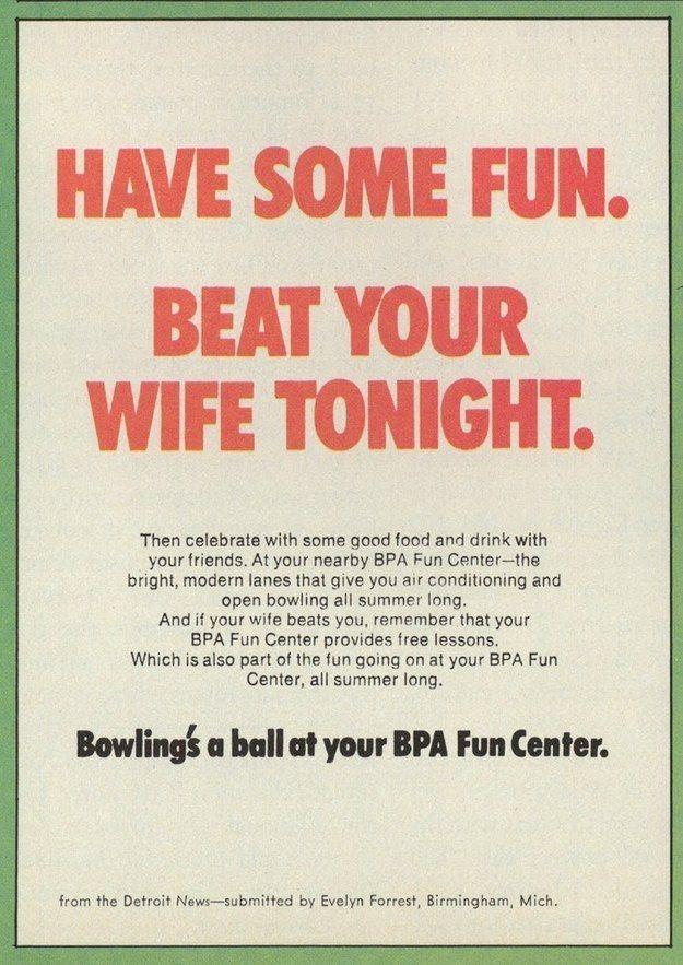 vintage ad. Bowling.