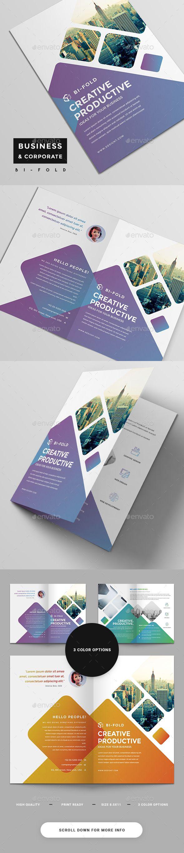 Corporate #Bi-Fold Brochure - #Corporate #Brochures Download here: https://graphicriver.net/item/corporate-bifold-brochure/19332651?ref=alena994