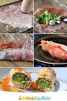 S.O.S. Comer Saudável : Filé de frango recheado com brócolis e queijo bran...