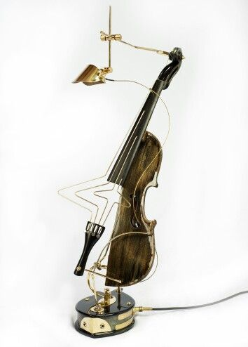 Lamp made from an  old instrument