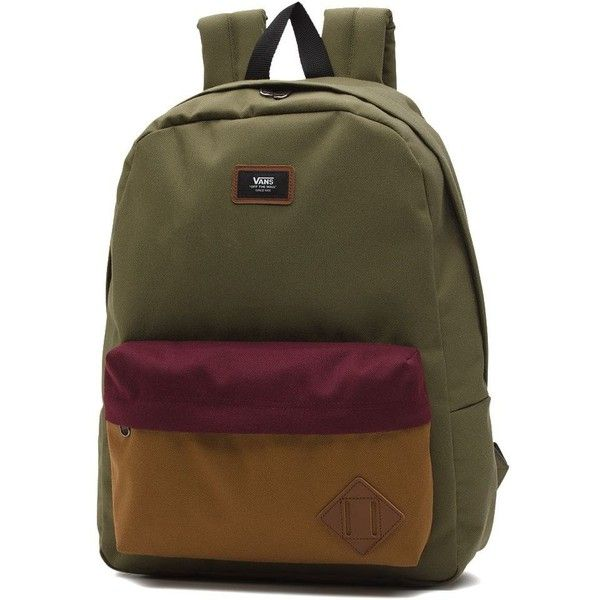 Vans Old Skool Backpack ($35) ❤ liked on Polyvore featuring men's fashion, men's bags and men's backpacks