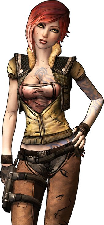 As most of you know, this is Lilith, one of the main characters of Borderlands and a key story character in Borderlands 2. Description from screwattack.com. I searched for this on bing.com/images