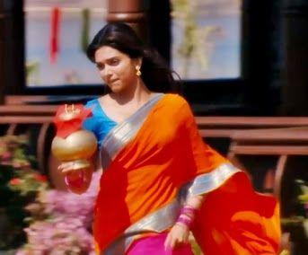 Deepika-padukone-saree-Chennai-express-movie