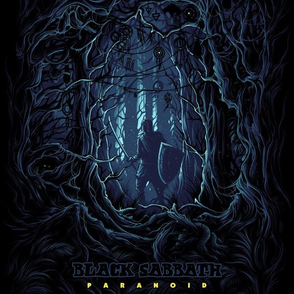 Black Sabbath - 2017 Dan Mumford poster Paranoid regular